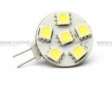 Žárovka LED G4 0,9W 6 LED 12V SMD 5050
