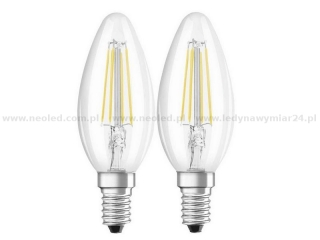 OSRAM LED BASE CLASSIC B40 žárovka E14 4W=40W 2700K 470lm double pack