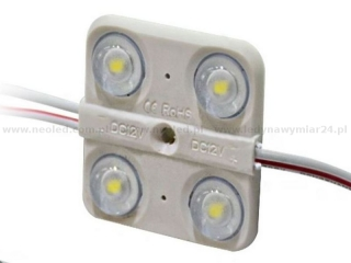 Neoled modul 4 LED diody 1,2W 2835 SMD 6000-7000K 160° 104lm