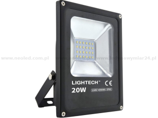 Lightech reflektor LED SMD 20W IP65 6500K  1400lm černý