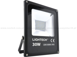 Lightech reflektor LED SMD 30W IP65 6500K  2100lm černý