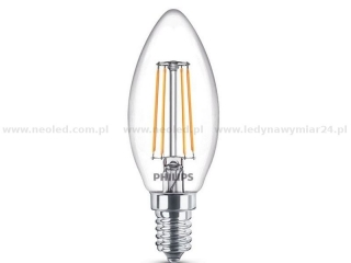 PHILIPS LED filament svíčka E14 classic  B35 CL ND RF 1BC 4W 2700K 470lm